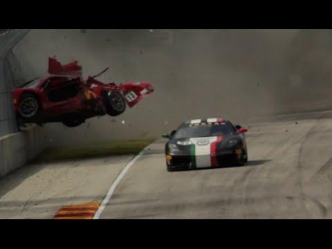 CCR Ferrari Challenge Crash At Road America 2015