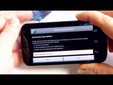 How to Scan Bar Codes with any App: Barcode Keyboard for Android