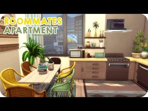 ROOMMATES APARTMENT | Sims 4 Speed Build