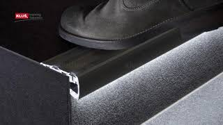 KLUS LLC - the STEP extrusion illuminates and protects the edge of the step