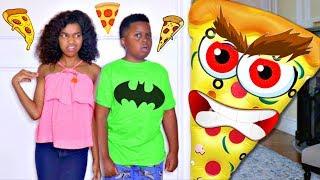 GIANT PIZZA vs Bad Baby Shiloh and Shasha - Crazy Giant Food Chase! - Onyx Kids