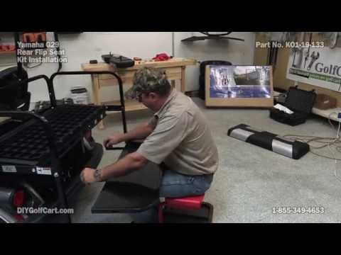 MadJax Genesis Rear Seat for Yamaha Drive Golf Cart | How to Install
