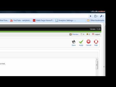 Joomla!™ 1.5: Adding Meta Tags