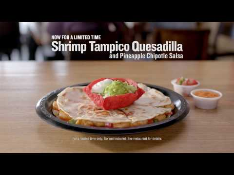 The Shrimp Tampico Quesadilla is back for a limited time!