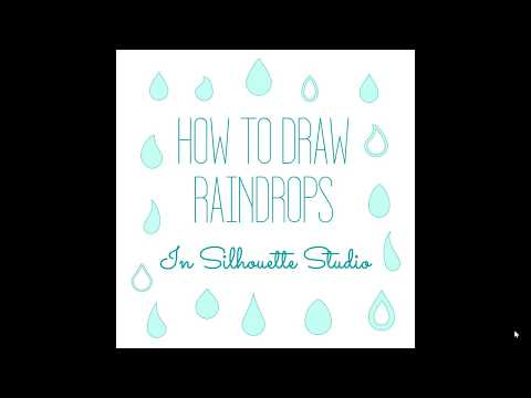 How to draw raindrops / teardrops in Silhouette Studio