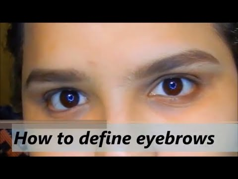 How to define eyebrows | all about skin and makeup