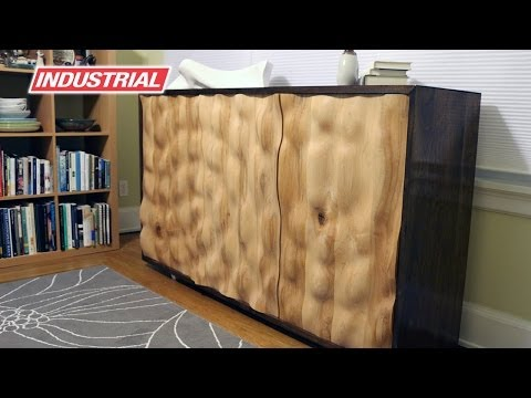 CNC Project: Wooden Cabinet With Water Effect Doors | ToolsToday