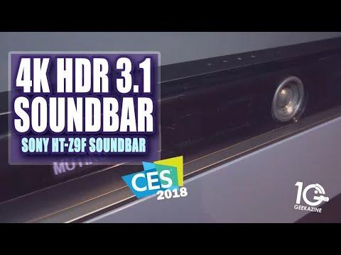 Sony HT-Z9F Sound Bar is Wireless, 4k HDR 3.1 Sound