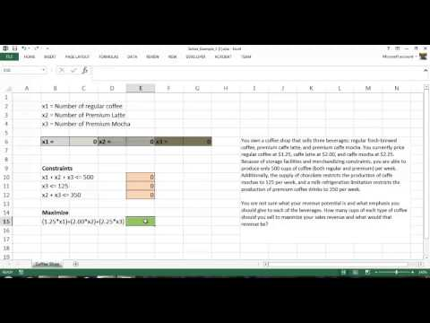 Introduction to Designing Optimization Models Using Excel Solver