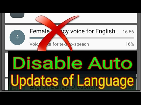 How to disable auto updating of Language on Android?