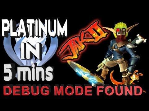 Jak 2 Platinum in 5 minutes - PS4/PS3/VITA Debug Mode Found - All Trophies unlocked Tutorial
