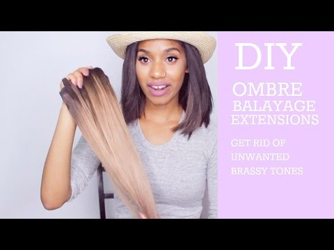 DIY Ombre/Balayage Clip-in Extensions | Nerissa Farrell