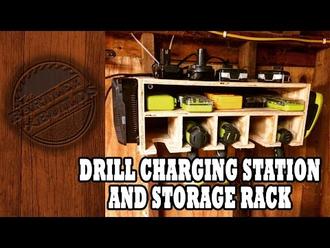 Drill Charging Station and Storage Rack   Shop Project