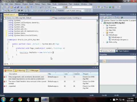 Oracle Conn With Asp.Net.wmv