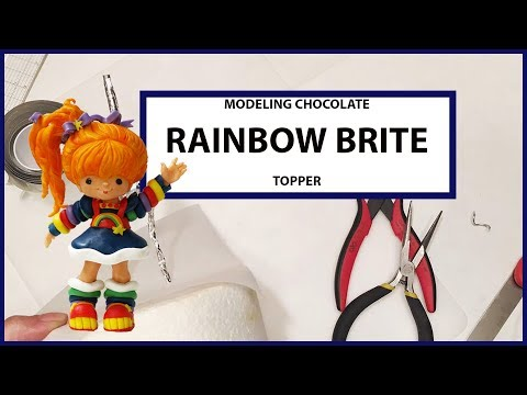Rainbow Brite Cake Topper Modeling Chocolate Tutorial Timelapse (Part 2 of 4)