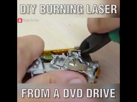 DIY Burning Laser from a DVD Drive