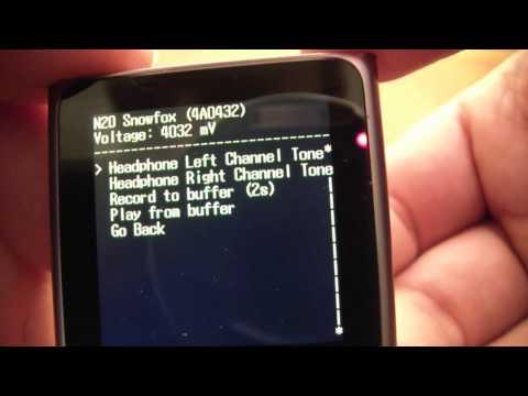 6th Generation ipod Nano Diagnostic Mode Tutorial