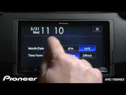 How To - AVIC-7000NEX - Change the Clock Settings
