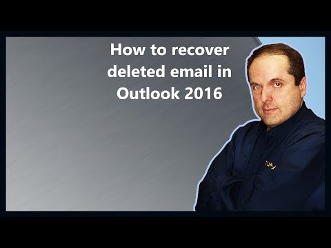How to recover deleted email in Outlook 2016