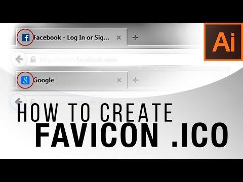 How To Create a Favicon .ICO — Illustrator Tutorial