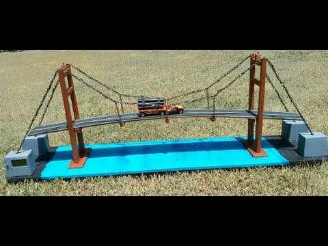 How to make suspension bridge model
