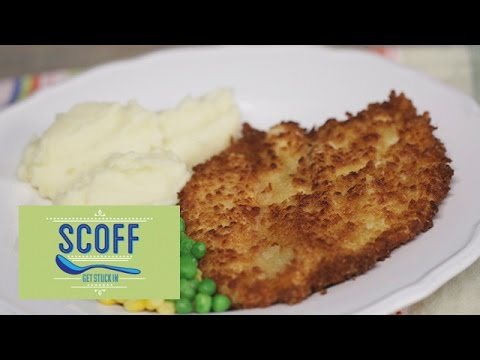 Cheesy Chicken Schnitzel With Mash | Cooking For Kids 4