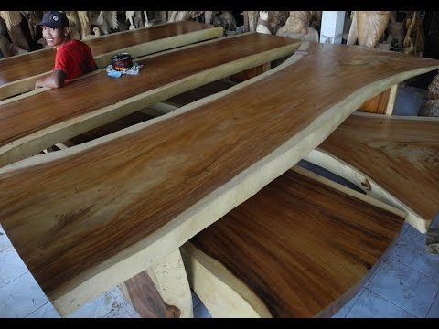 Slab Dining Room Furniture | Solid Wood Dining Table Slabs