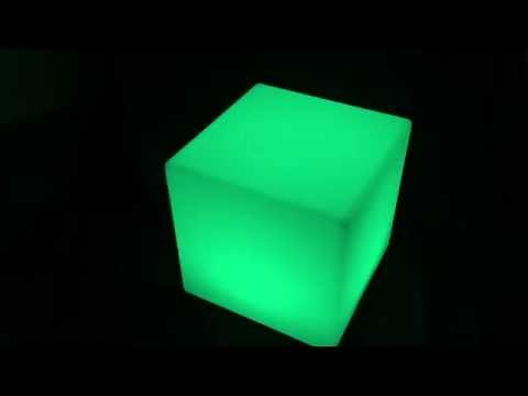 LED Glow Furniture: LED Cube Seat