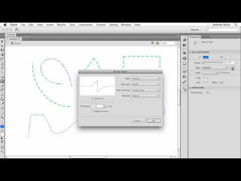 Adobe Flash CS6 Tutorial | Pencil Tool Options