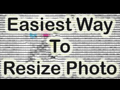 Easiest way to resize a photo by using Adobe Photoshop