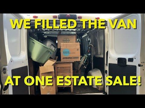 We Filled the Van at One Estate Sale! Vintage Furniture, BMX & MORE!