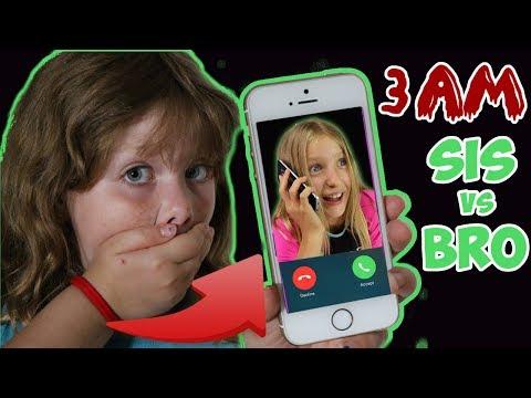 CALLING SIS VS BRO AT 3AM!!! OMG SO CRAZY!!!