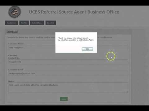 United Credit Education Services Referral Portal