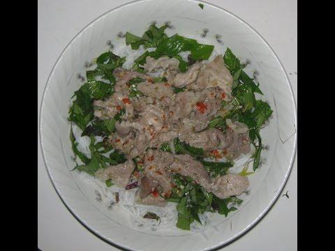 Bún Thịt Nướng (Grilled Pork with Vermicelli Noddles, Fresh Herbs, Sprouts, Vietnamese Fish Sauce)