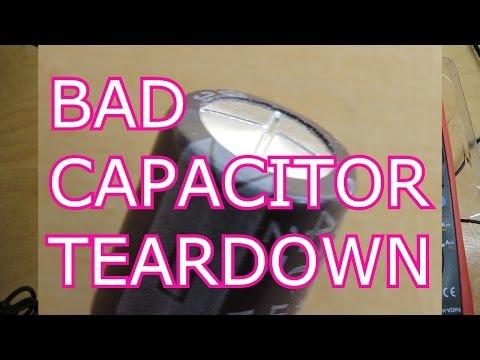 Bad Electrolytic Capacitor Teardown