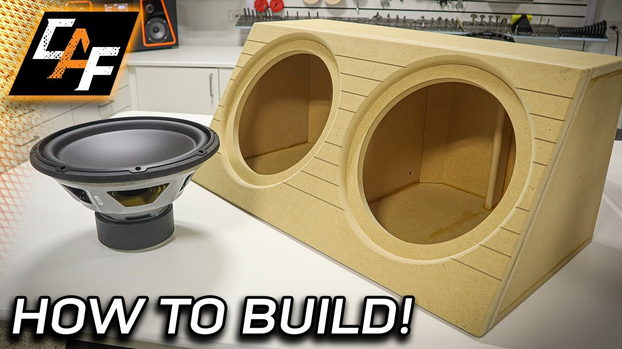 How to build - Wedge Subwoofer Box Enclosure! SIMPLE & LOUD!