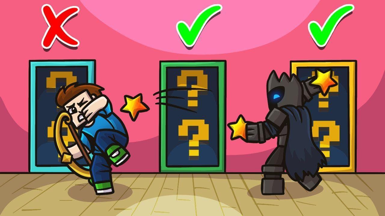 *SECRET* ASTRAL LUCKY BLOCK DOORS In Minecraft! - Lucky Block Doors Mini-Game