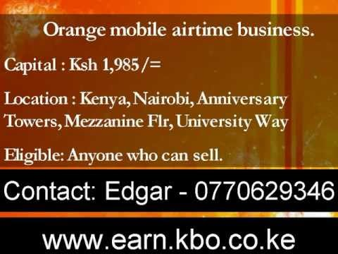 Start Business selling Airtime/ pre-paid Sim card distribution in Kenya . Capital: Ksh 1,985