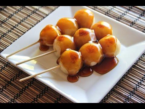 Mitarashi Dango Recipe   Japanese Cooking 101