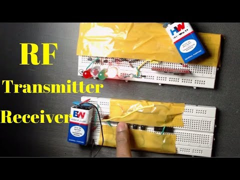 how to make rf transmitter and receiver circuit Easy,step by step
