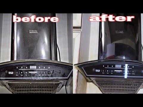 किचन की चिमनी को चमक़ाये सिर्फ़ 5मिनट में वो भी घर में बने क्लीनर से।easy diy chimney cleaning