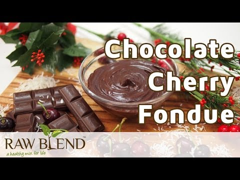 How to Make Fondue (Chocolate Cherry Recipe) in a Vitamix 5200 Blender by Raw Blend