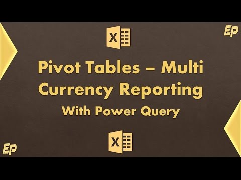 Excel Pivot Table: Multi Currency Sales Report (using Power Query)