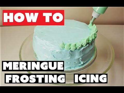 How To Make Meringue Frosting Icing