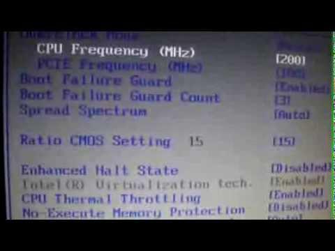 Cómo hacer un OverClock básico al CPU desde la BIOS