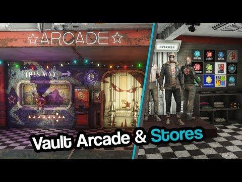 Fallout 4| Vault VII - Arcade (Cafeteria and Merch Shop)