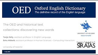 The OED and historical text collections: discovering new words