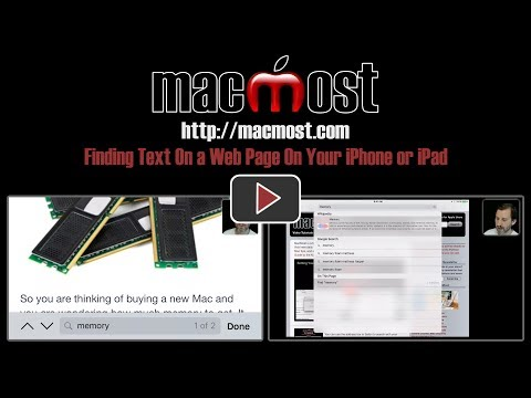 Finding Text On a Web Page On Your iPhone or iPad (#1442)