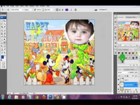 making birthday greetings in photoshop