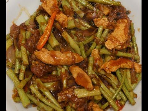 Paano magluto Adobong Sitaw  Recipe - Filipino Food - Long Beans with Chicken - Pinoy Tagalog